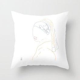 Minimal Vermeer Throw Pillow