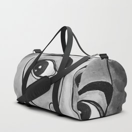 Salvador Dalí black and white portrait Duffle Bag