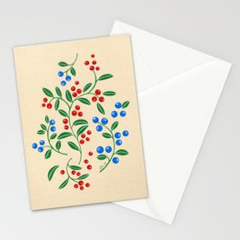 Forest berries Stationery Cards
