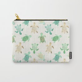 Gilded Jade & Mint Turtles Carry-All Pouch