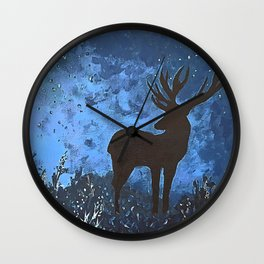 King of the forest   Modern acrylic painting Wall Clock