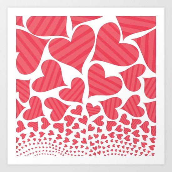 Bursting Hearts Art Print