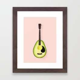 AVOCADO GUITAR Framed Art Print
