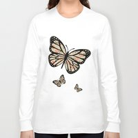 orange pattern Long Sleeve T-shirts featuring Orange Floral Pattern by Christina Rollo