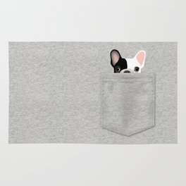 Pocket French Bulldog - Pied Rug