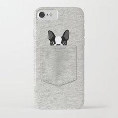 Pocket Boston Terrier - Black Slim Case iPhone 7