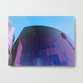 Wall Meets Sky Metal Print