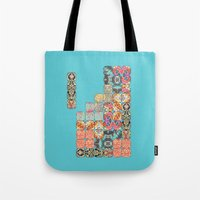 tetris Tote Bags featuring TETRIS by Bianca Green
