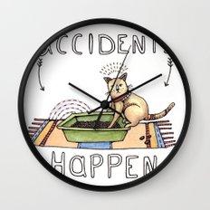 Accidents Happen Wall Clock
