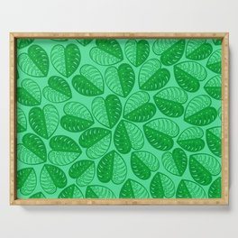 Monstera Leaf 2d Graphic Pattern Serving Tray