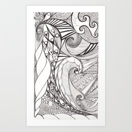 Birds And Scales Of A Feather Flock Together Art Print