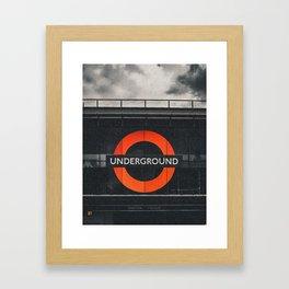 Brixtion Station, Underground Framed Art Print