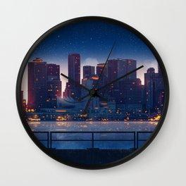 City Night Original Artwork Wall Clock