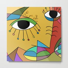 Flower Face Metal Print