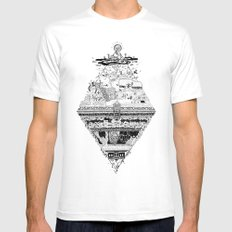 Olympe | Enfer MEDIUM Mens Fitted Tee White