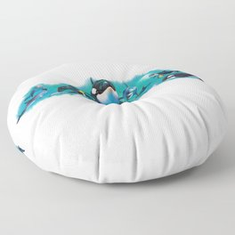 Dolphins and Orca Whales Floor Pillow