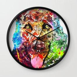 Alsatian Grunge Wall Clock