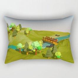 Landscape Low Poly Y1 Rectangular Pillow