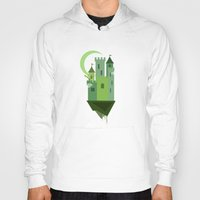 castle in the sky Hoodies featuring Sky Castle 2 by Becky Gibson