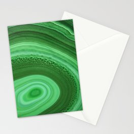Green Agate Stationery Cards