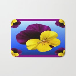 Decorative Shaded Blur Yellow-Purple Violas Art Bath Mat