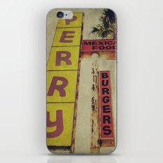 Perry's Vintage Sign iPhone & iPod Skin