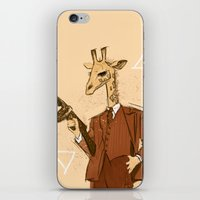 gangster iPhone & iPod Skins featuring Gangster Giraffe by Ichorteeth