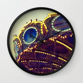 Blue Hour at the Carnival II Wall Clock