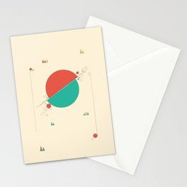 Circles and Angles Stationery Cards