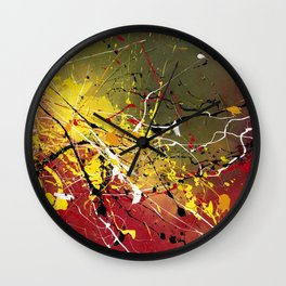INNERGLOW - Abstract painting design, colorful splash art, Large canvas art Wall Clock