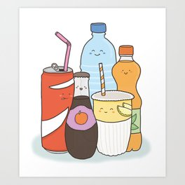 HOT OUT THERE? DRINK US! Art Print