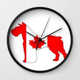 """Schnauzer """"Canada"""" Wall Clock"""