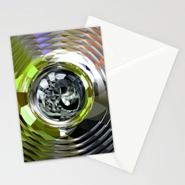 planet metal Stationery Cards