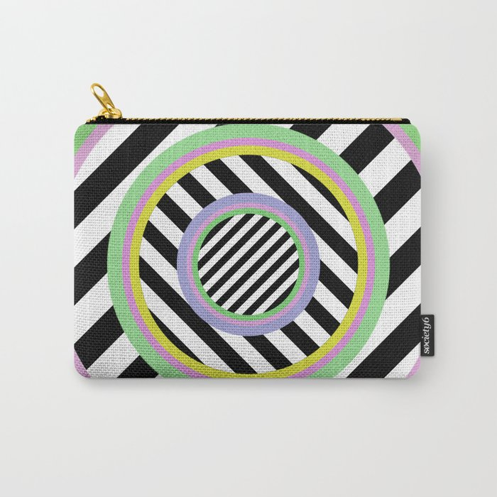 Circles, stripes and pastel colours Carry-All Pouch