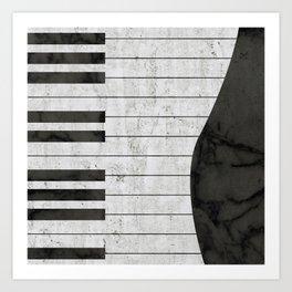 Stone Piano Art Print