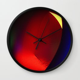 Red oval Wall Clock