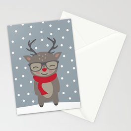 Merry Christmas Deer Stationery Cards