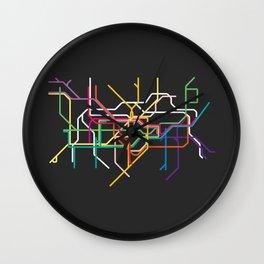 london metro map Wall Clock