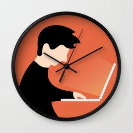 Urban Hermit - computer addiction Wall Clock
