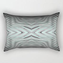 Gradient Zebra Turquoise Rectangular Pillow