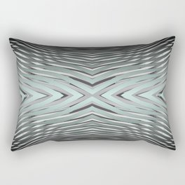 Gradient Zebra Turquoise Rectangular Pillow