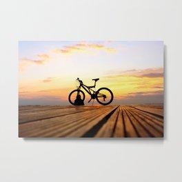 Biker's Sunset  Metal Print