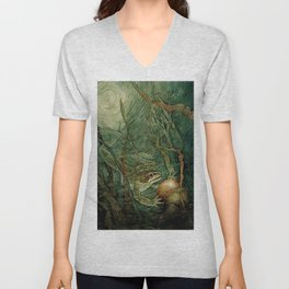 """""""The Frog Prince and the Golden Ball"""" by Edmund Dulac Unisex V-Neck"""