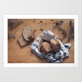 Brown Breads Art Print