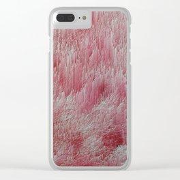 Wild Glitch Fire Flower Fields World #001 Clear iPhone Case