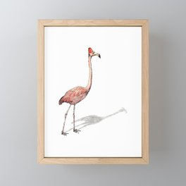 Fez Hat Flamingo Framed Mini Art Print