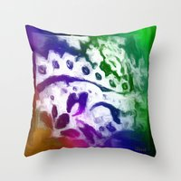 lace Throw Pillows featuring Lace by Geni