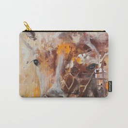 "Giraffe - Animal - ""Presence"" by LiliFlore Carry-All Pouch"