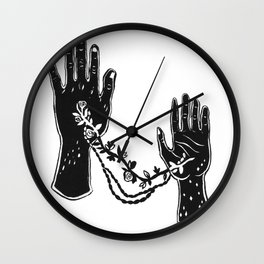 Joined Hands Wall Clock