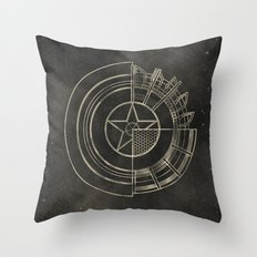 Capt America Throw Pillow
